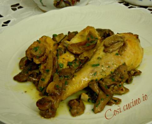 Pollo ai funghi porcini-Così cucino io