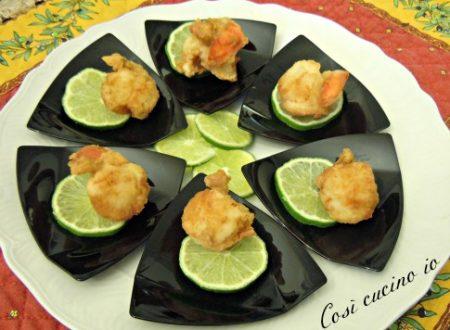 Capesante fritte al profumo di lime, ricetta finger food