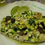 Sgombro zucchine e olive taggiasche, ricetta semplice