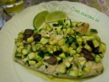 Sgombro zucchine e olive taggiasche-Così cucino io