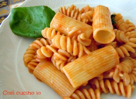 Pasta mista al pomodoro, ricetta di riciclo