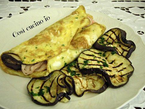 Omelette melanzane e prosciutto, ricetta secondi piatti