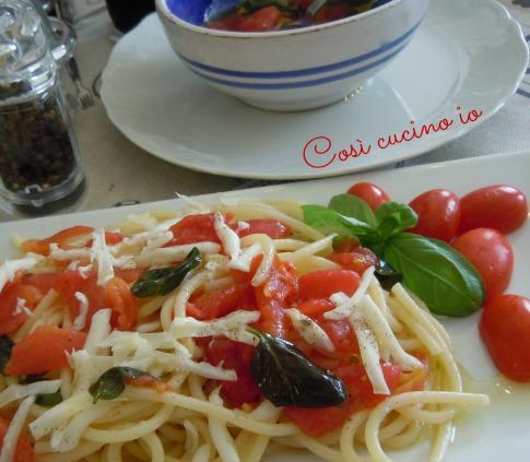 Spaghetti alla rudaiola con scamorza affumicata-Così cucino io