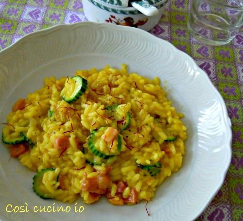 Risotto giallo con zucchine e pancetta-Così cucino io