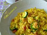 Risotto giallo zucchine e pancetta-Così cucino io