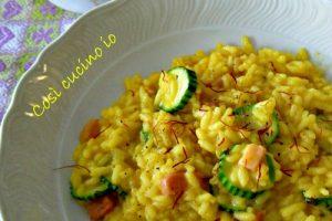 Risotto giallo con pancetta e zucchine, ricetta primi piatti
