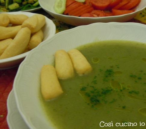 Zuppetta di lattuga e patate-Così cucino io