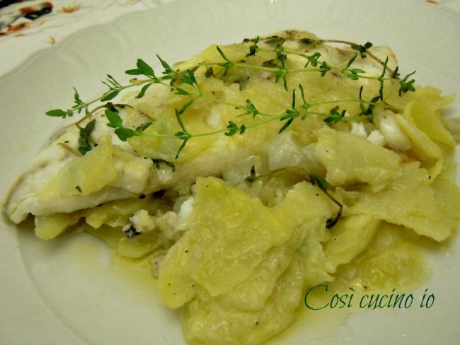 Filetti di rombo e patate al profumo di timo-Così cucino io