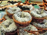 Muffins al cioccolato dal cuore di marmellata di ciliegie-Così cucino io