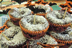 Muffins al cioccolato dal cuore di marmellata, dolcetto o scherzetto?