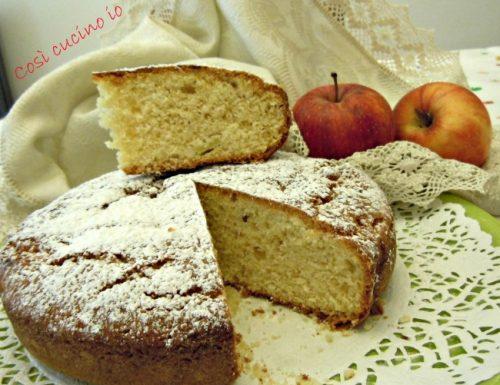 Torta di yogurt alla mela, ricetta light