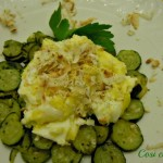 Uova strapazzate, zucchine e ricotta affumicata, ricetta veloce