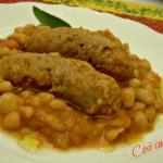 Salsicce  e fagioli cannellini in umido, ricetta secondi piatti
