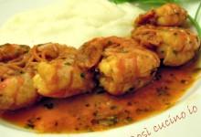 Gamberi alla busara con polenta bianca, ricetta veneta
