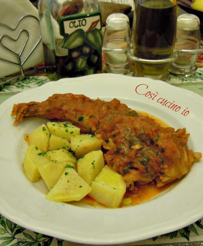Coda di rospo in guazzetto ricetta secondi piatti di pesce for Secondi piatti di pesce