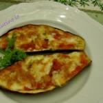 Barchette di melanzane striate alla pizzaiola, ricetta appetitosa