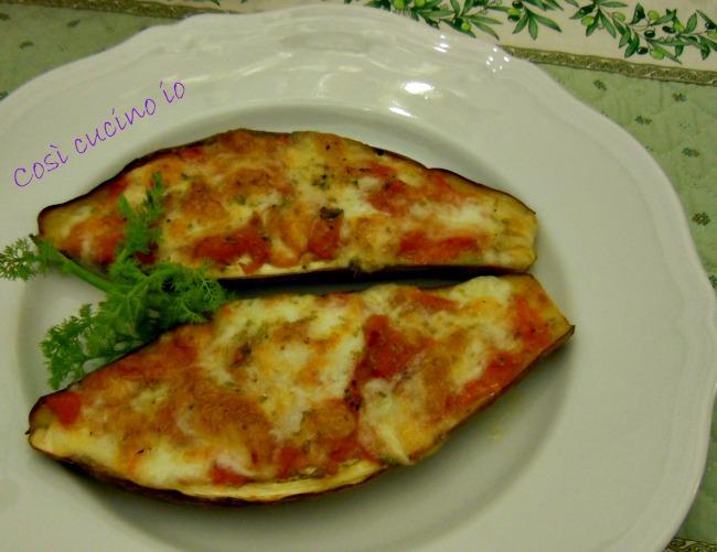 Barchette di melanzane striate alla pizzaiola-Così cucino io
