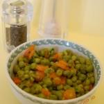 Piselli freschi con carotine novelle, contorno di stagione