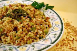 Fregula asparagi e speck, ricetta primi piatti