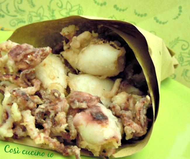 Calamari fritti in scartosso-Così cucino io
