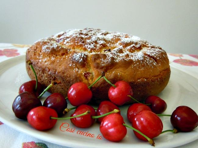 Torta semplice alle ciliegie-Così cucino io
