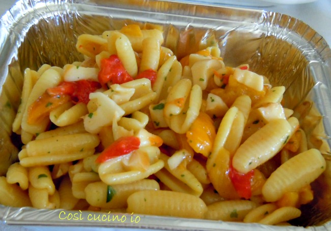Gnocchetti sardi peperoni e scamorza-Così cucino io