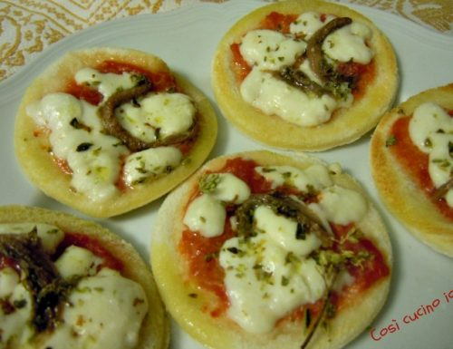 Pizzette furbe, antipasto, finger food