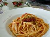Spaghetti all'acqua pazza di branzino-Così cucino io