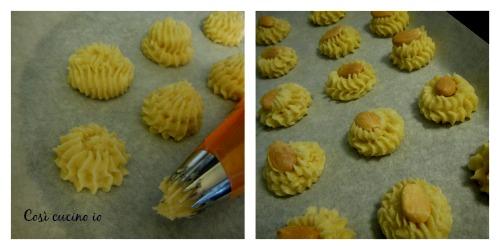 Collage biscotti riso e mandorle