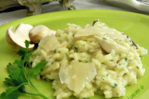 Risotto di funghi porcini, ricetta di stagione