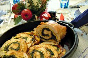 Arrosto di tacchinella tricolore, secondo piatto delle feste