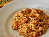 Risotto di gamberi e calamari al pomodoro-Così cucino io