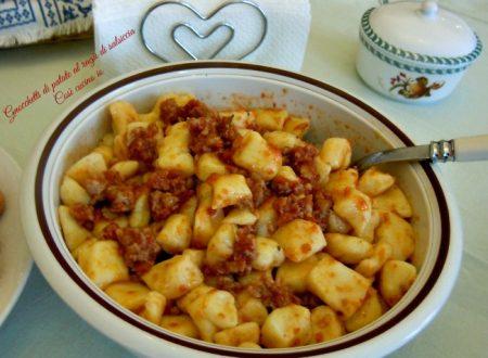 Gnocchetti di patate al ragù di salsiccia