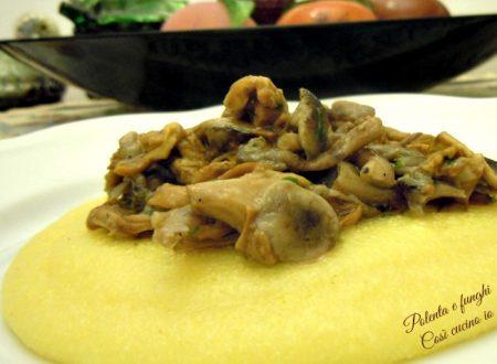 Polenta e funghi trifolati