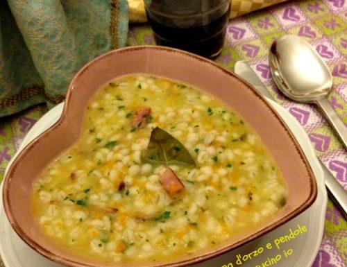 Zuppa d'orzo e pendole, ricetta montanara