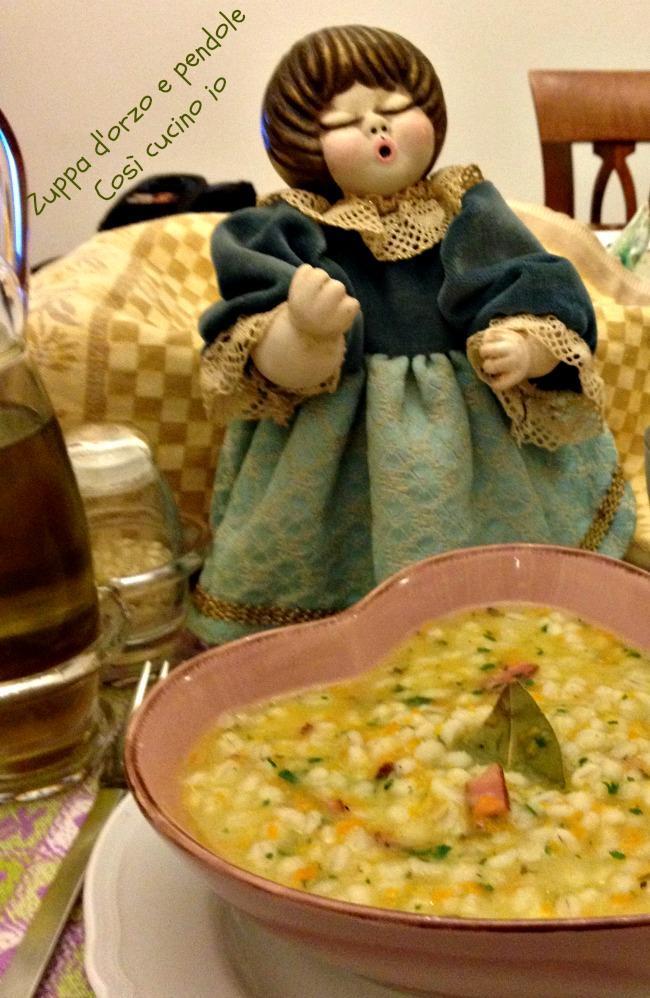Zuppa d'orzo e pendole-Coz' cucino io