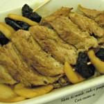 Filetto di maiale, mele e prugne, ricetta agrodolce