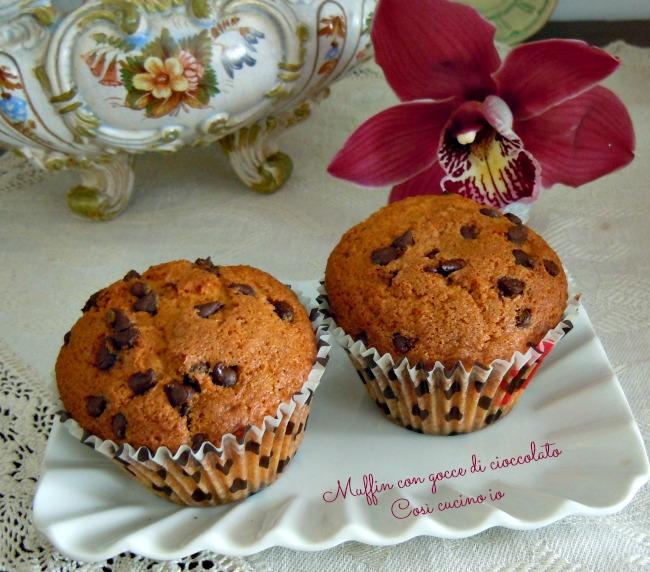 Muffin con gocce di cioccolato-Così cucino io