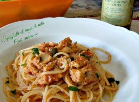 Spaghetti al sugo di asià, primi piatti di pesce