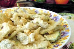 Frittura di carciofi e zucchine in pastella leggera