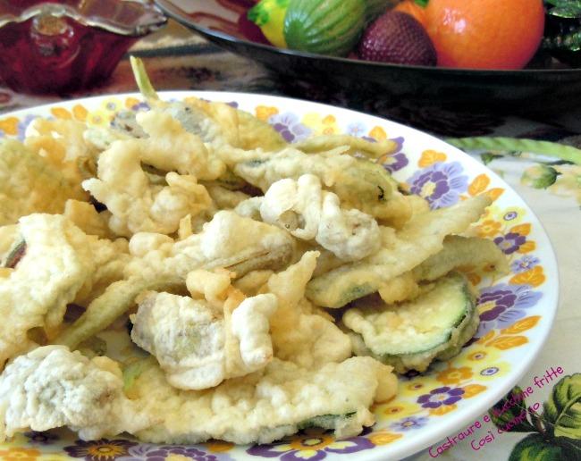 Frittura carciodi e zucchine-Così cucino io
