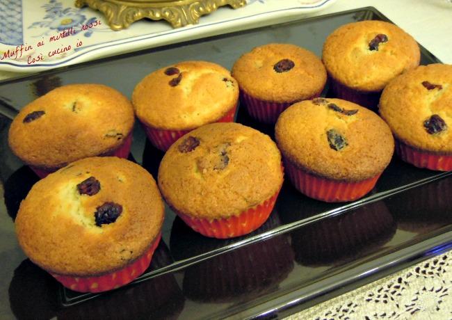 Muffins ai mirtilli rossi-Così cucino io