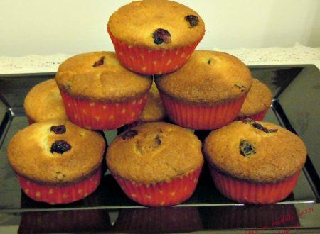 Muffins ai mirtilli rossi