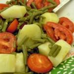 Insalata di fagiolini, patate e pomodoro
