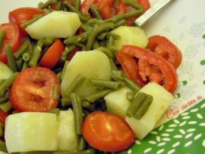 Insalata di fagiolini, patate e pomodoro-Così cucino io