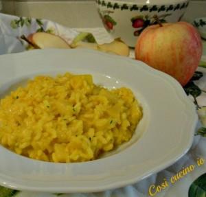 Risotto giallo di mele-Così cucino io
