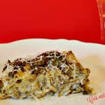 Lasagne ai carciofi e scamorza affumicata