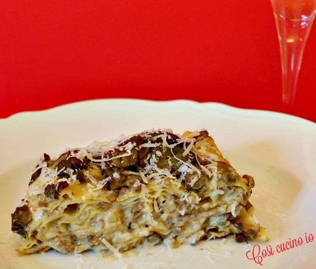 Lasagne carciofi e scamorza