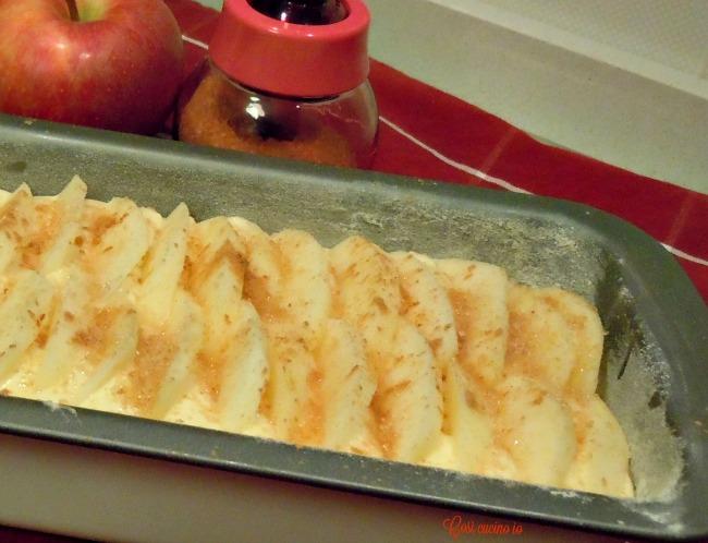 Plum cake alla panna con mele-Così cucino io