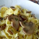 Tagliatelle ai funghi champignon-Così cucino io